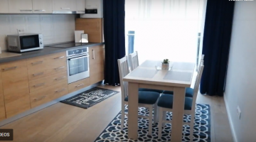 LUXURY apartment for rent in Cluj, near the University of Agriculutural Sciences and Veterinary Medicine, living room, 2 bedrooms Video